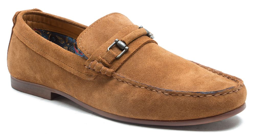 Redtape Trimble Tan Suede Slip on Loafer