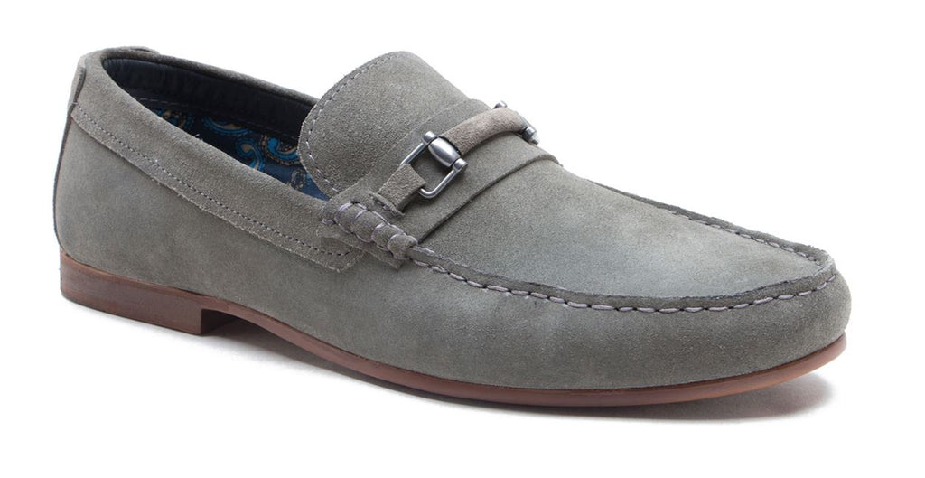 Redtape Trimble Grey Suede Slip on Loafer