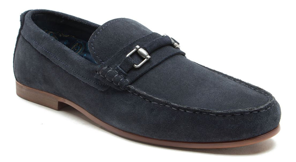 Redtape Trimble Navy Suede Slip on Loafer