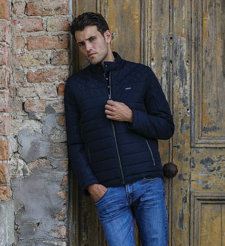 Navy Quilted Troy Jacket