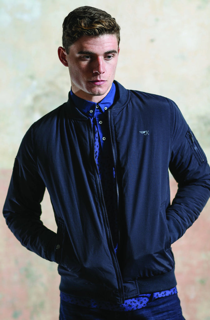 Kingpin Navy Bomber Vaughan Jacket