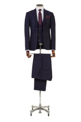 Bale Navy 3 Piece Suit