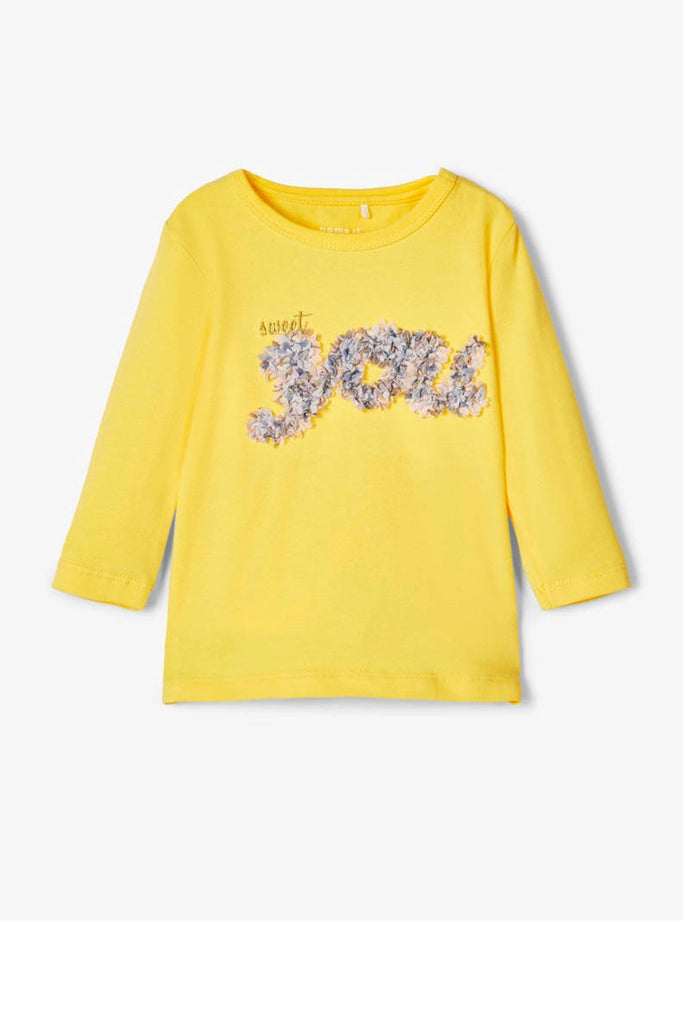 Flavia Long sleeve Newborn Yellow Top