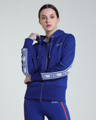 Beartiz Zip Up Women's blue Hoodie