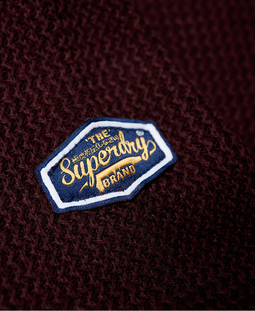 Academy Textured Deep Port Crew by Superdry