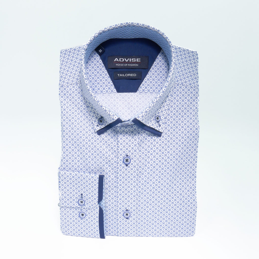 Royal Pattern Double Collar Shirt