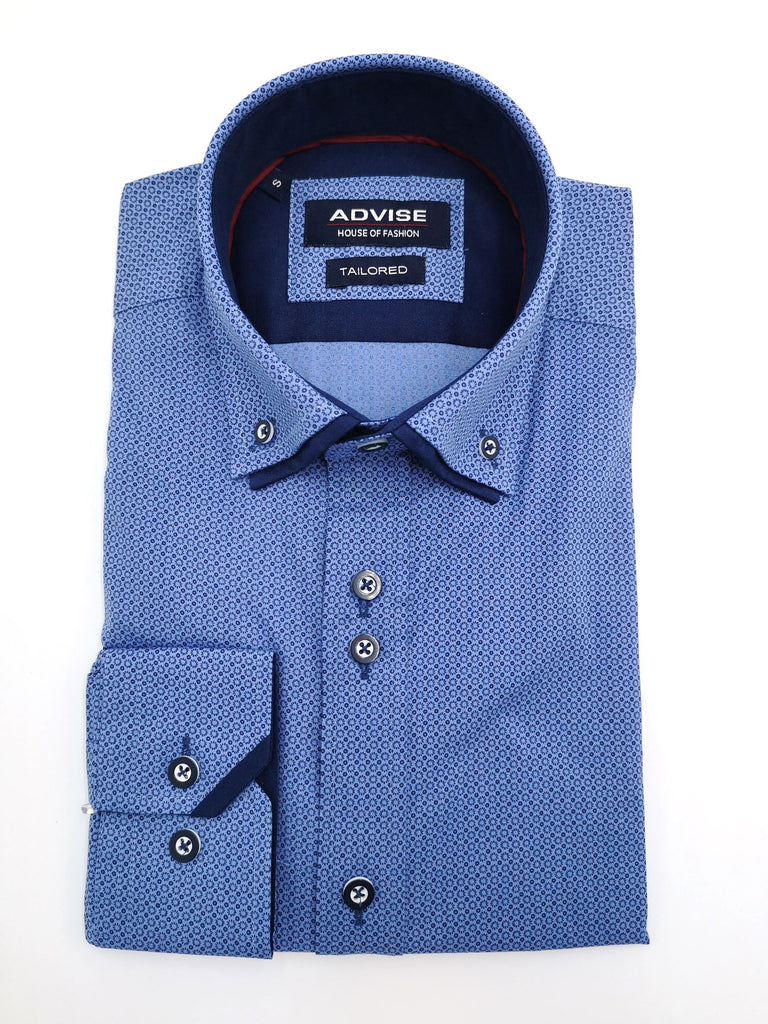 Blue Double Collar Shirt by Advise