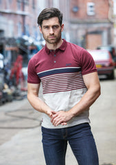 Addison Stripe Polo By Kingpin