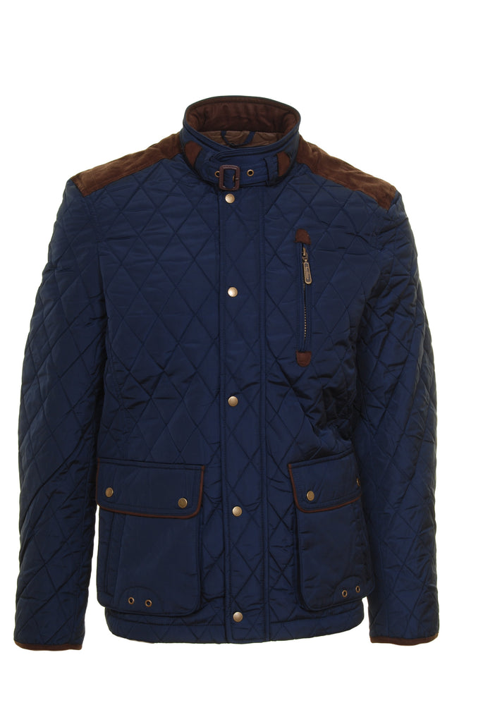Aintree Navy Men's Padded Jacket by 6th Sense - Front