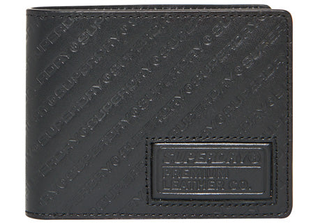 Aop Badge Lineman Black Wallet by Superdry