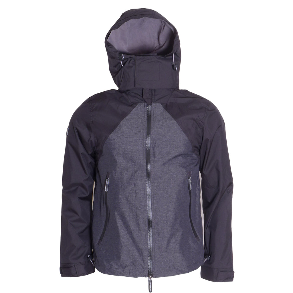 Arctic Hooded Cliff Black Jacket by Superdry
