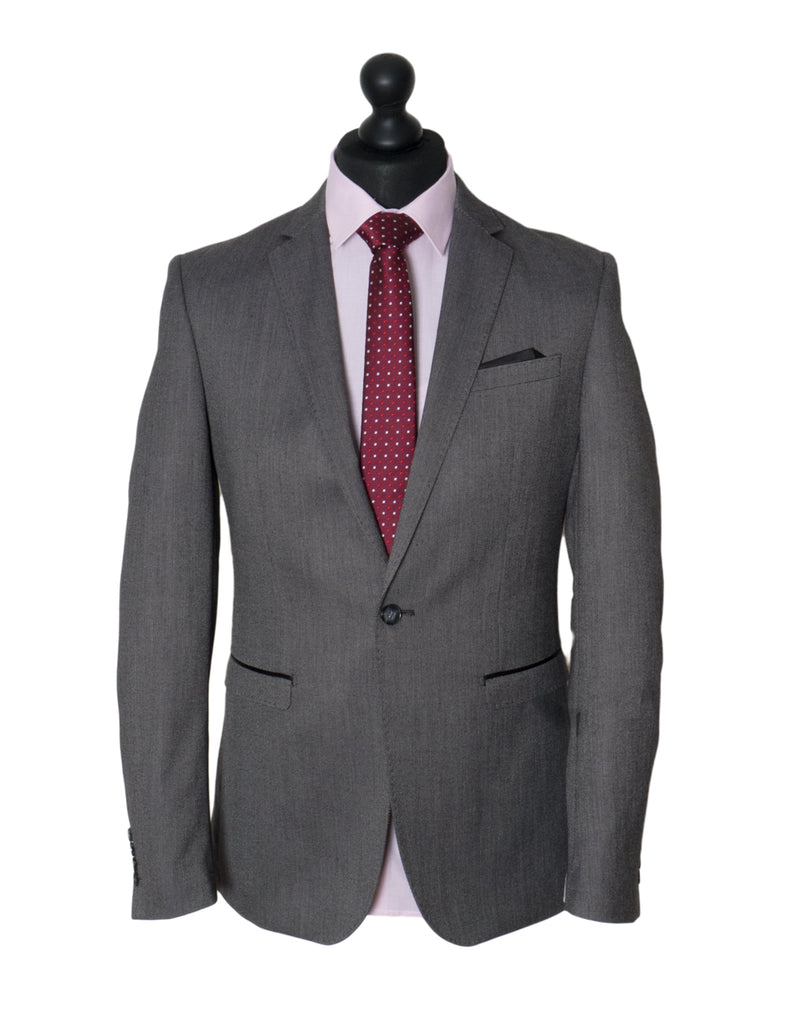 Asl Grey Slim Fit Suit By Benetti