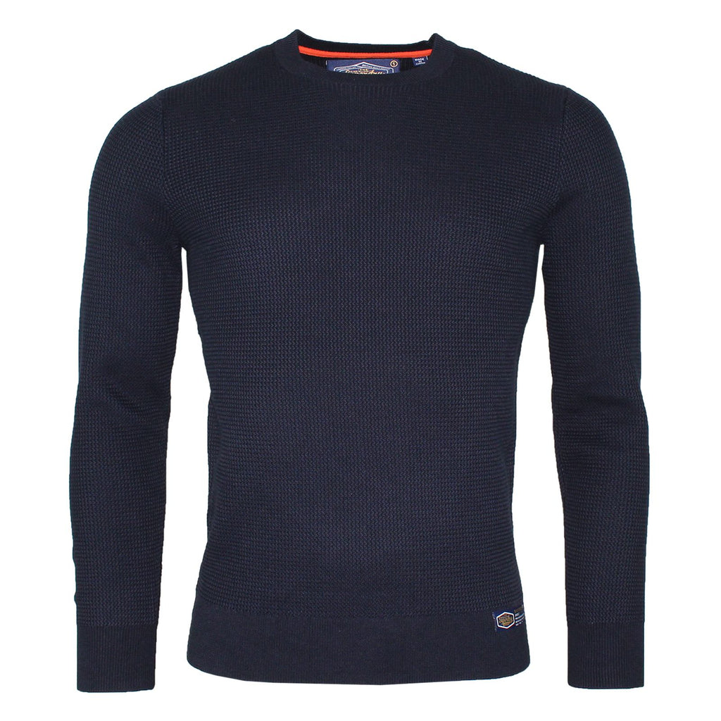 Academy Textured Deep Navy Crew by Superdry