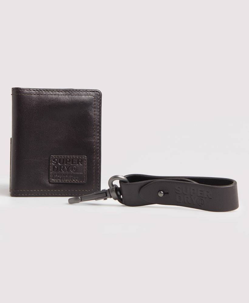 Dark Brown Badge Card Holder Set