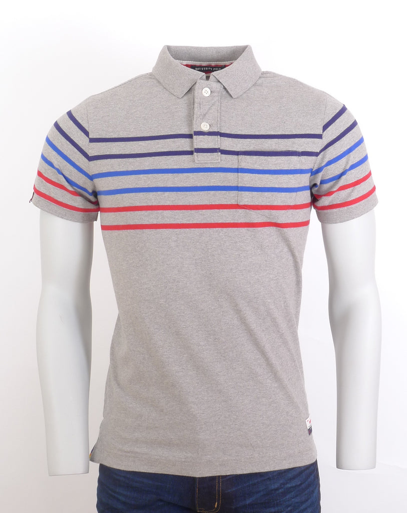 Bay Stripe Polo Shirt By Superdry