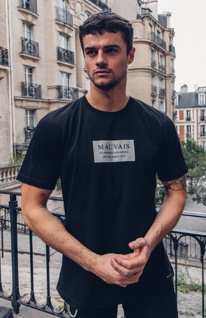 Black Box Logo Short Sleeve Tee by Mauvais