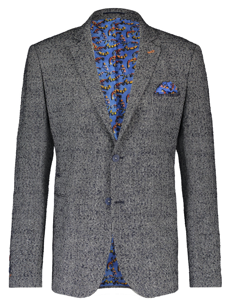 Boucle Grey Tapered Blazer