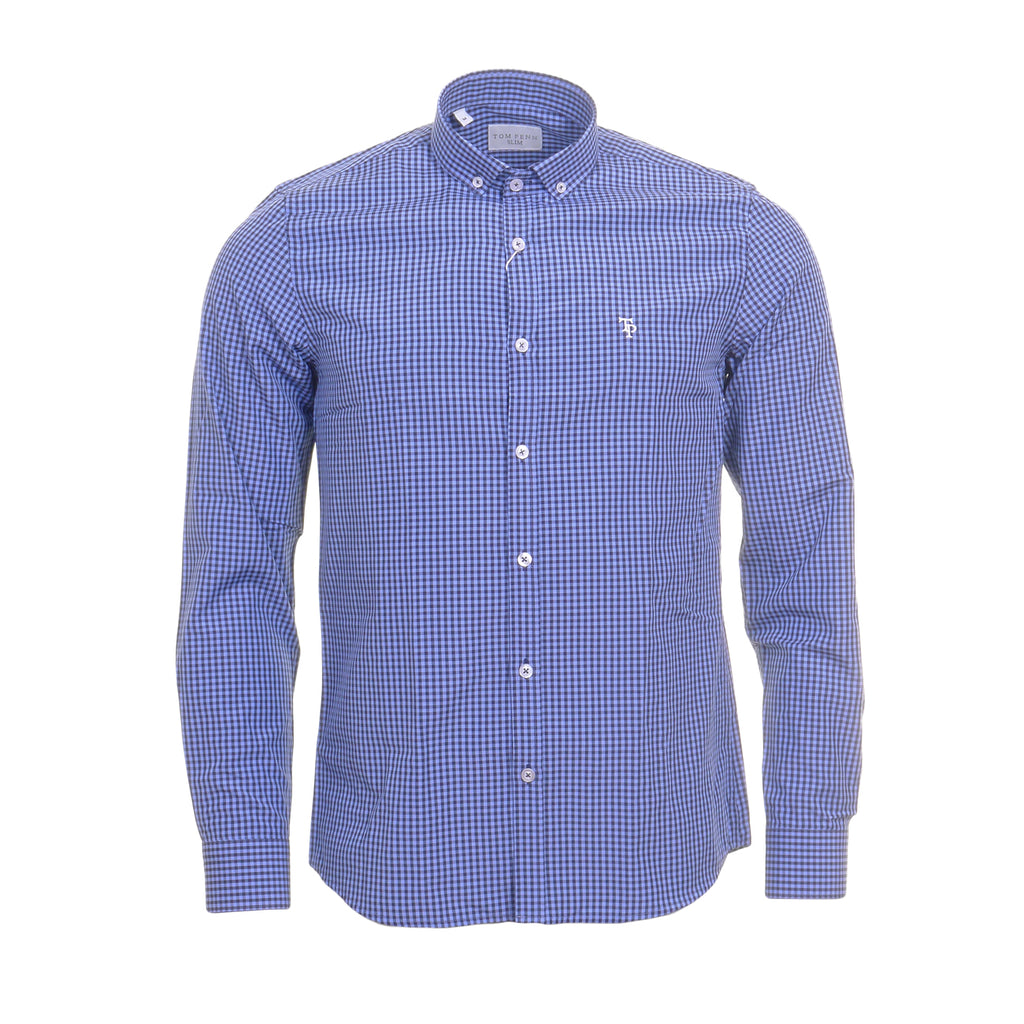 Blue Check Shirt By Tom Penn