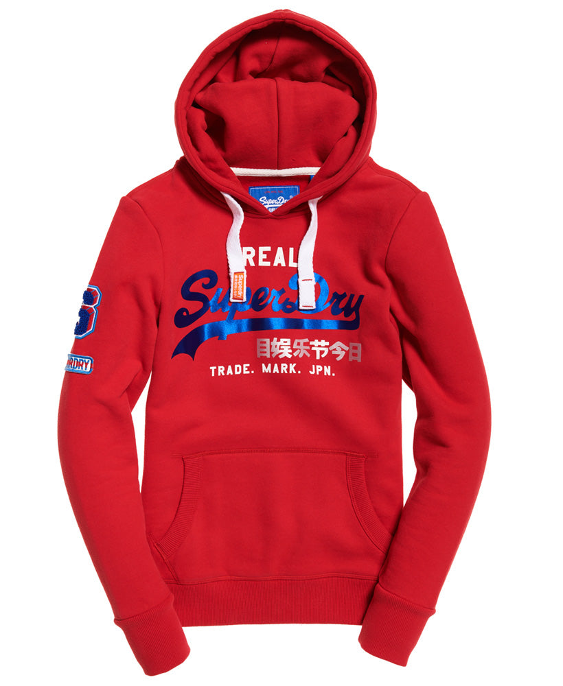 Vintage Logo Bonded Hoodie by Superdry Womens - Front