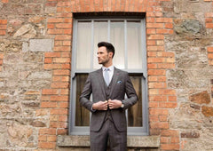 Men's Tapered Fit Bonn Grey 3 Piece Suit By Benetti
