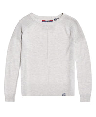 Bria Grey Raglan Knit by Superdry Womens - Front