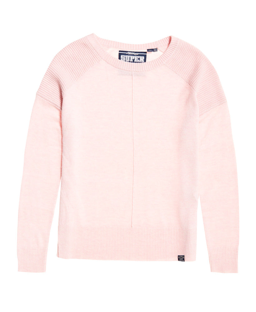 Bria Pink Raglan Knit by Superdry Womens - Front