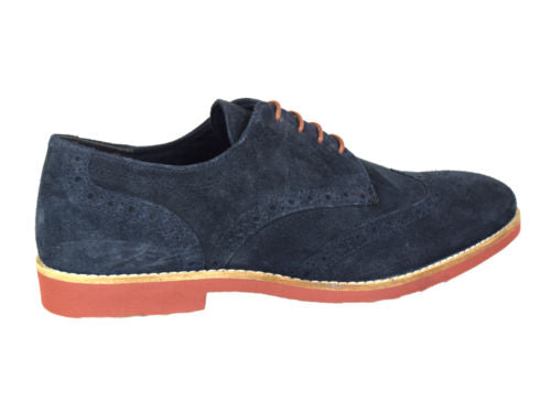 Brickhill Navy Suede Mens Brogue By Redtape