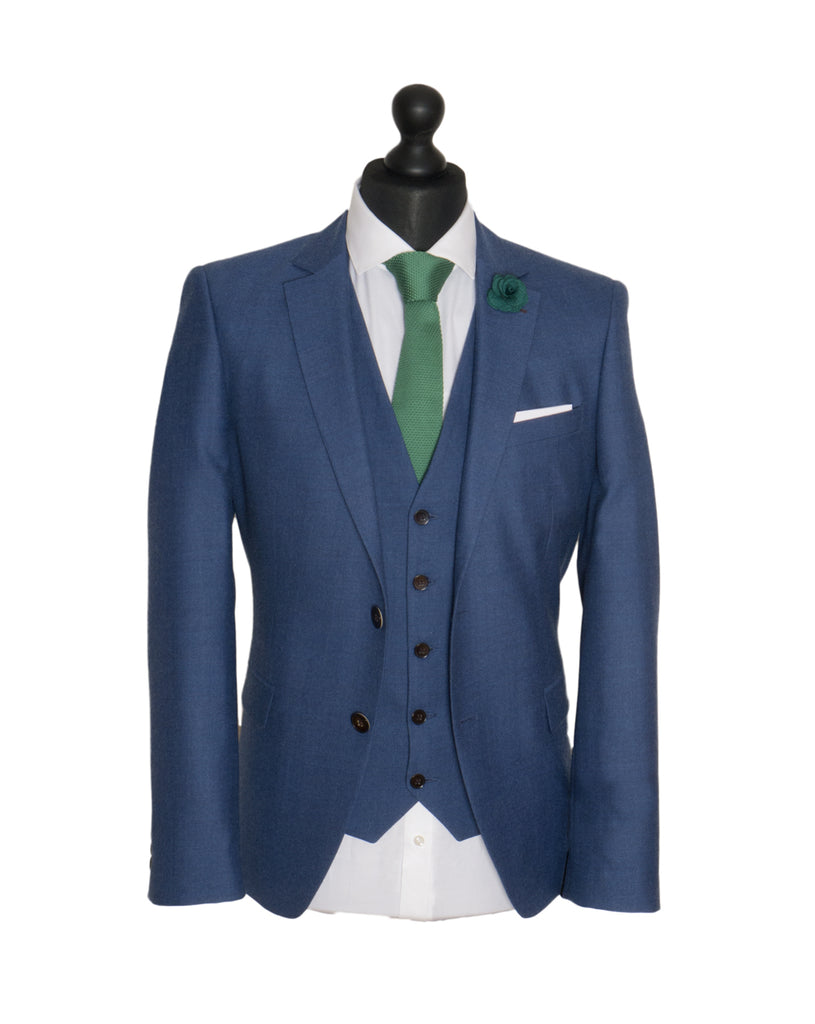 Brogan Petrol Blue 3 Piece Men'S Suit By Benetti