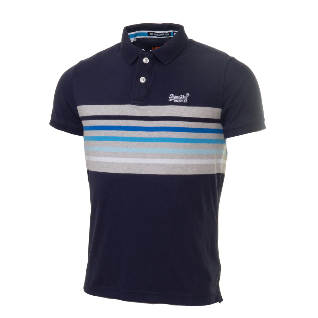 Cali Banner Navy Polo by Superdry