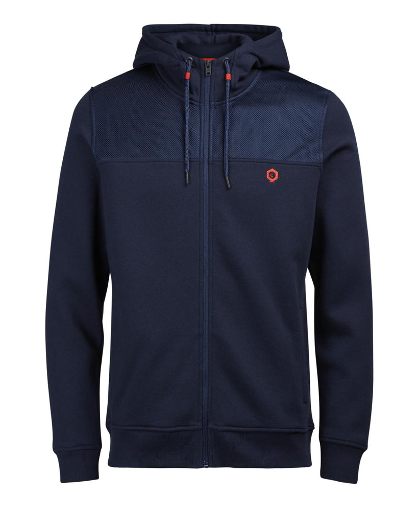Carl Zip Lapis Blue Hoodie By Jack Jones Core