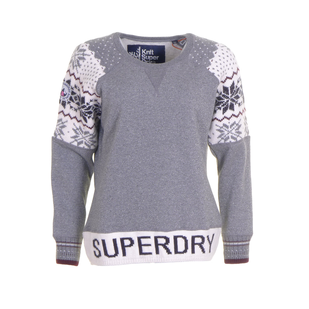 Chalet Panel Crew Jumper By Superdry Womens