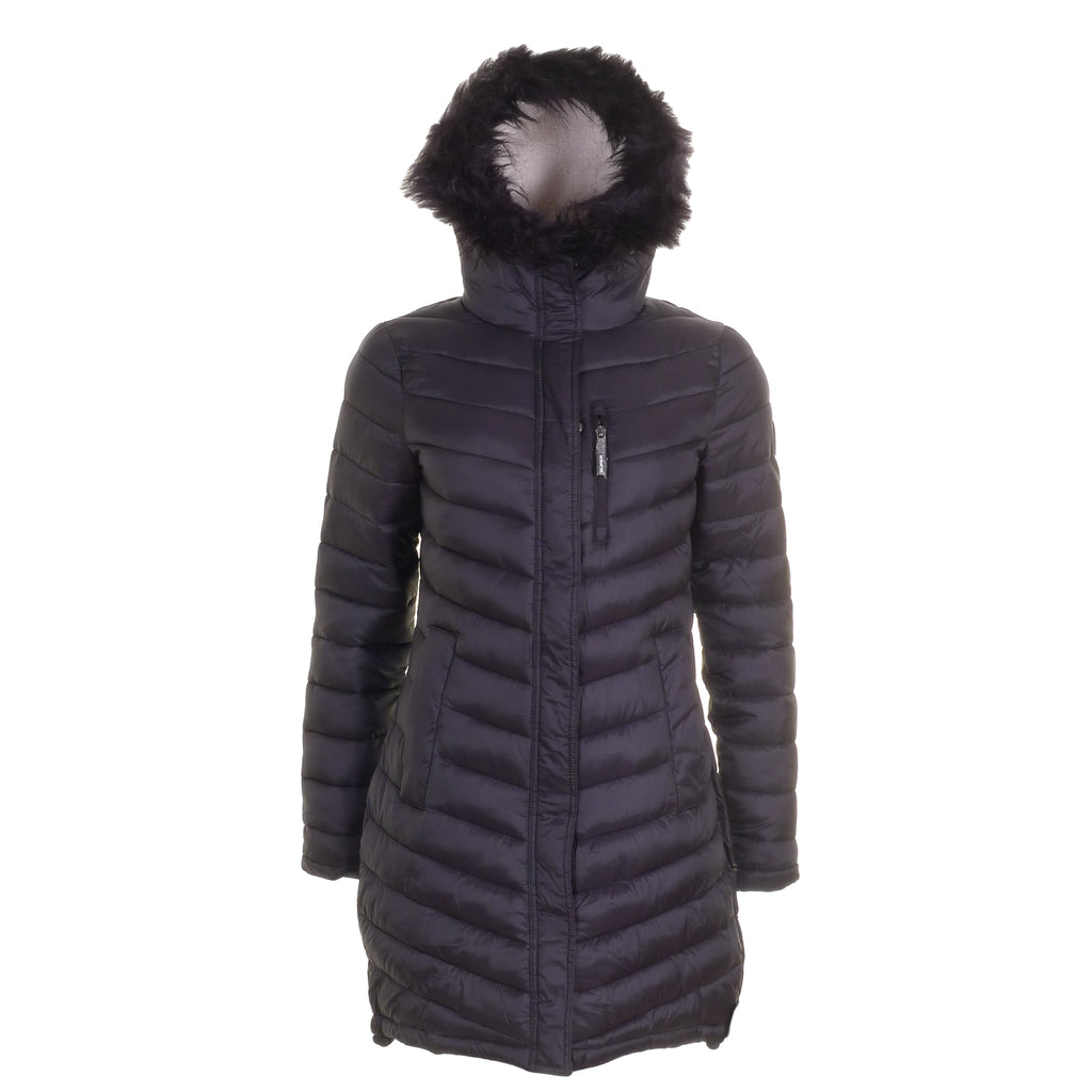 Chevron Fur Fuji Jacket By Superdry Womens