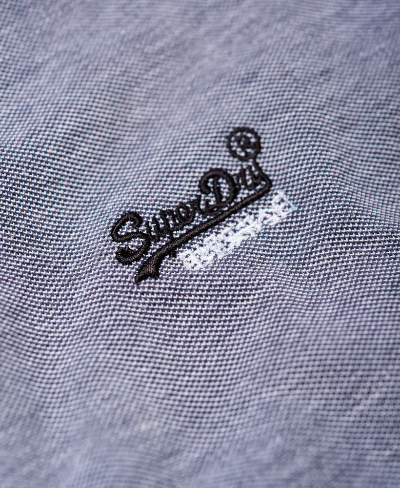 City Oxford Pique Grey Polo by Superdry