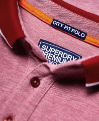 City Oxford Pique Red Polo by Superdry
