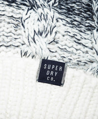 Clarrie Cable Denim Ombre Beanie by Superdry Women