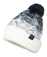 Clarrie Cable Denim Ombre Beanie by Superdry Womens