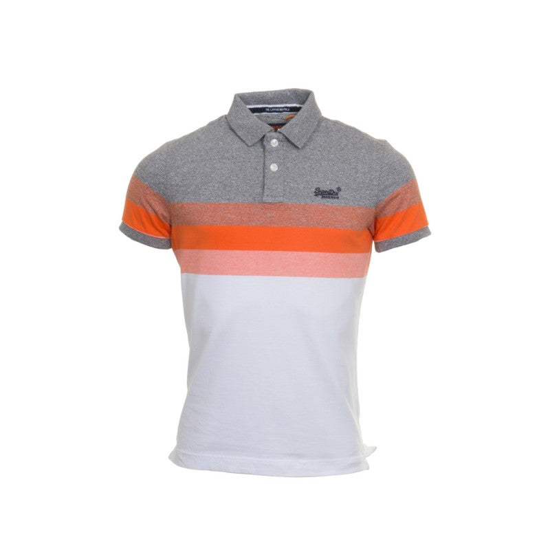 Classic S/S Longbeach Charcoal Polo by Superdry
