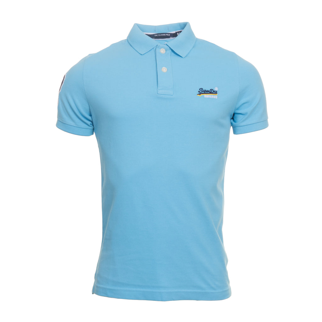 Classic Pique Barbados Blue Polo by Superdry