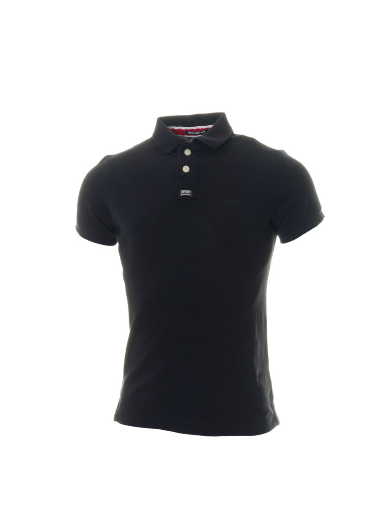 Classic Pique Navy Polo Shirt By Superdry