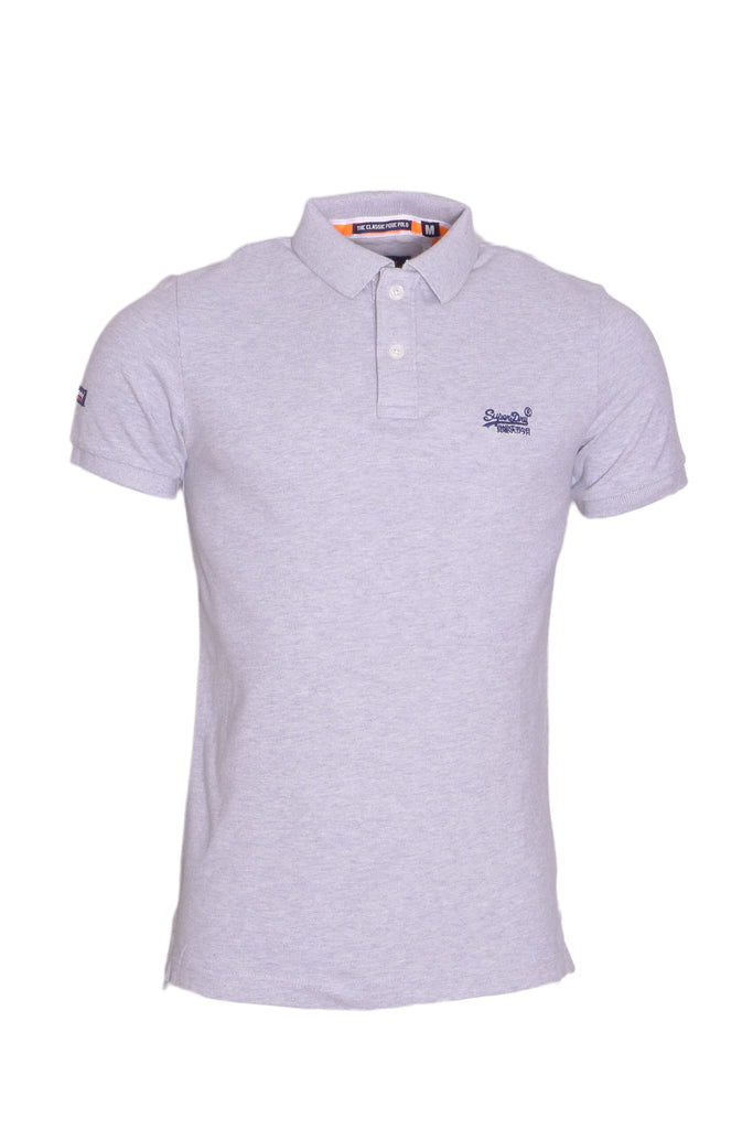 Classic Pique Silver Polo By Superdry