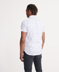 Classic Shoreditch Optic Print Short Sleeved Shirt back