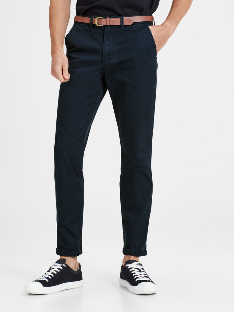 Cody Spencer Navy Straight Leg Chino By Jack & Jones