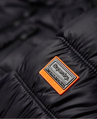 Commuter Quilted Biker Black - logo
