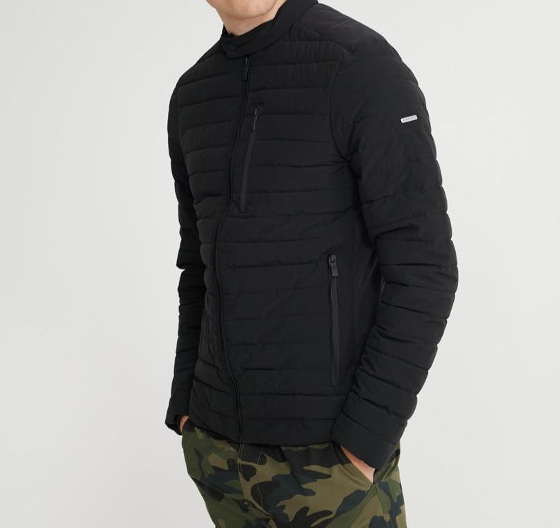 Commuter hybrid black biker jacket