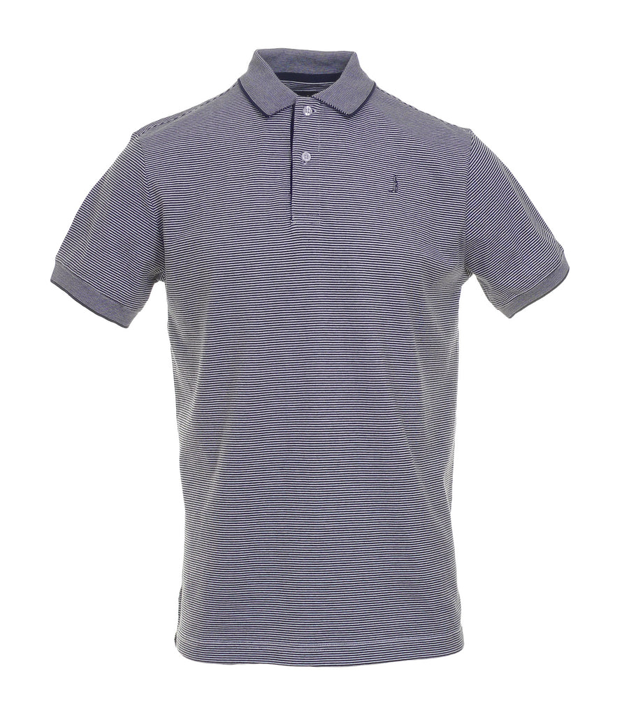 Conor Navy Stripe Polo
