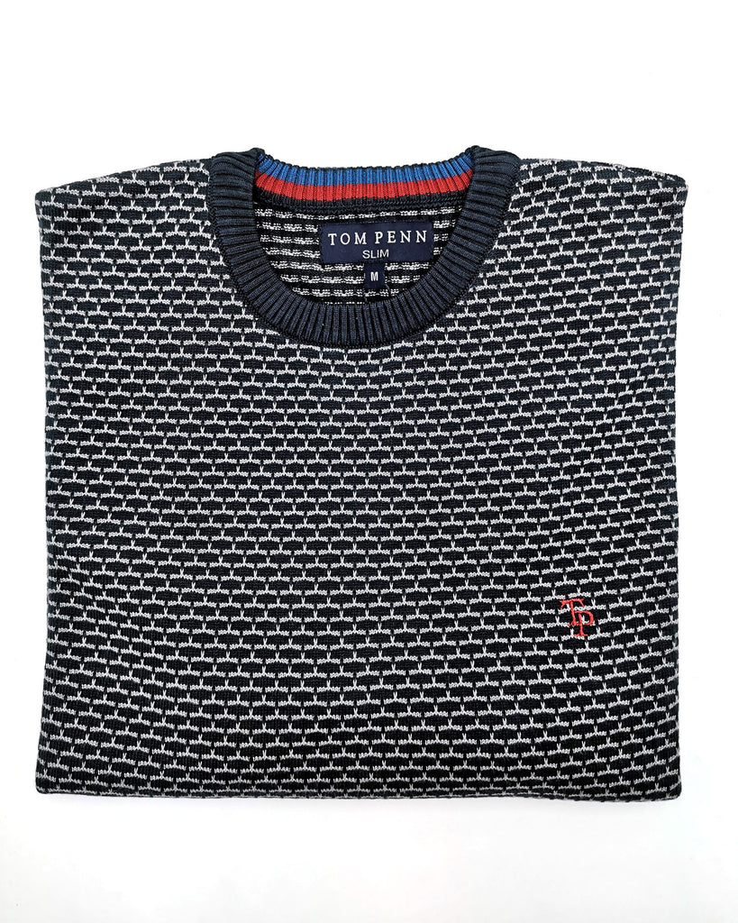 Navy/Grey Cooper Knit