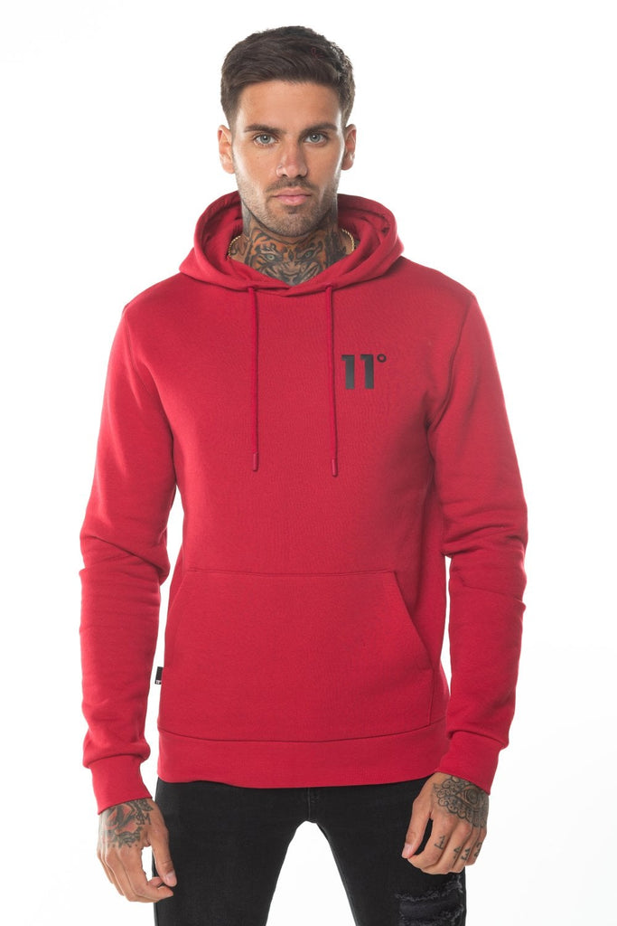 Core Pullover Men's Hoodie Ski Patrol Red by 11 Degrees
