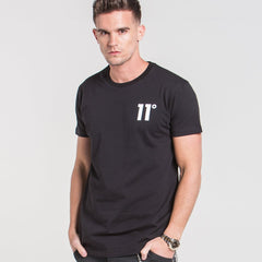 Core Tee Shirt Black by 11 Degrees