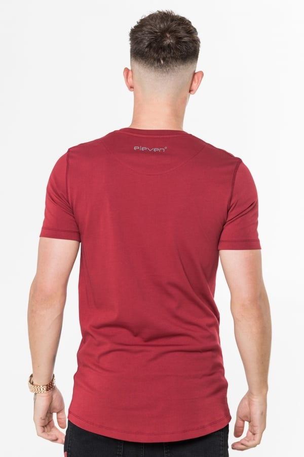 11D-1144 Burnt Red Core Tee by 11 Degrees