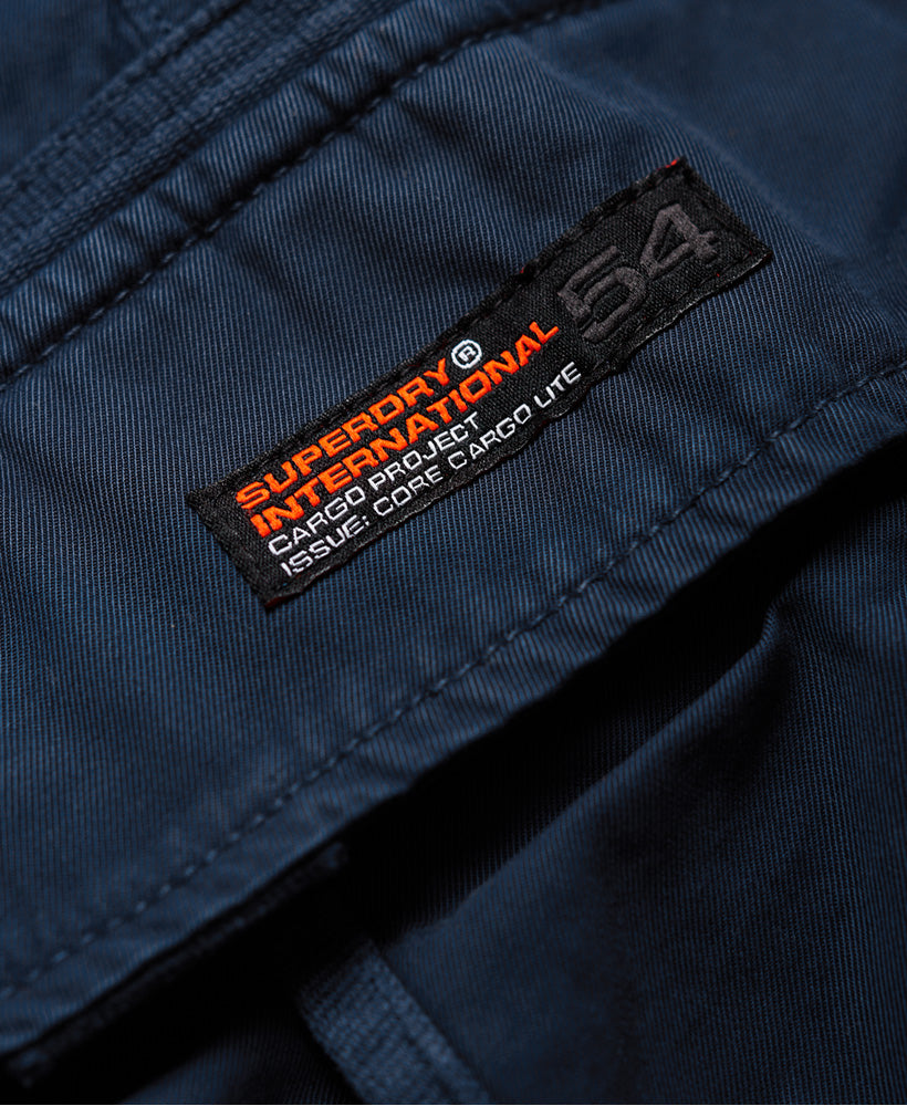 Core Cargo Navy Shorts - logo